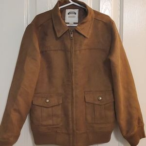 Gymboree Brown *Suede* Jacket. Boys Sz 7-8.